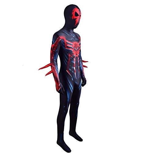 2099 Spiderman Cosplay Costuse Punk Versión Puntuna Niños Adultos Desmutos Desmitos Después Vestido Futicaje Partido Halloween Set de Superhéroe Onesies Etapa Show Aparts,2099 -Woman/XXL 170~175cm