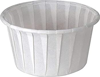 Solo 4.0 oz Treated Paper Souffle Portion Cups for Measuring Medicine Samples Jello Shots  Pack of 250