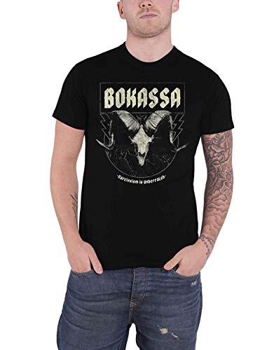Bokassa T Shirt Narcissism is ondergewaardeerd Band Logo Officiële Mens Zwart XXL
