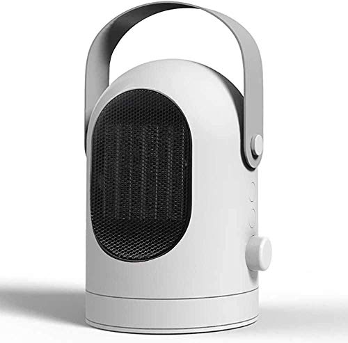 Electric Heater Fan Portable Fan Heater Space Ceramic Heater with 1200W/600W Heating Modes 3 Time Settings for Office Home Bedroom Bathroom Dorm Desktop (White)
