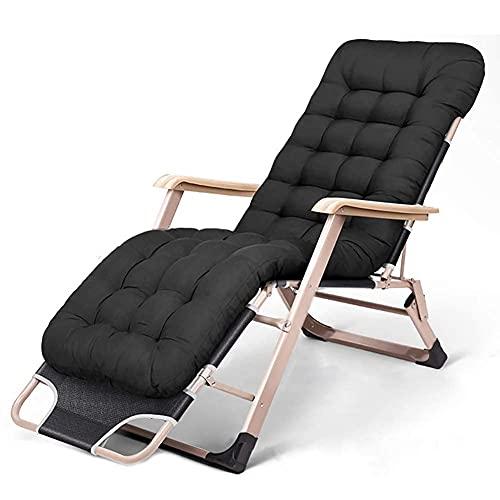 Tumbona plegable, silla reclinable ergonómicamente diseñada, ideal para patio, jardín, playa, relajante, hogar, jardín, jardín, para interior y exterior