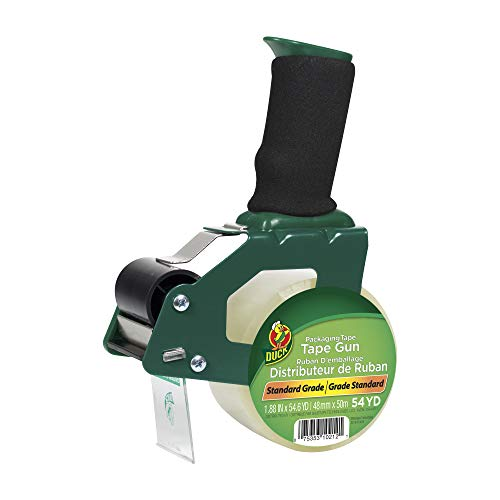 Duck Brand Standard Tape Gun with Foam Handle, Includes 1 Roll of 54 Yard...