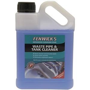 Fenwicks Waste Pipe and Tank Cleaner – Líquido para Limpiar tuberías y fregaderos (1 L), Color Azul