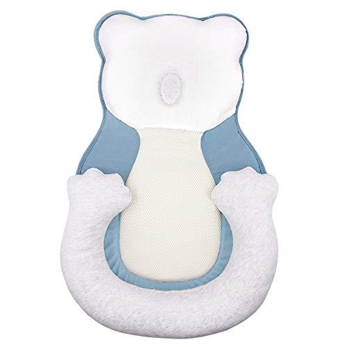 Babykissen Stützkissen Lagerungskissen Baby Kopf Orthopädisches Babykopfkissen Gegen Plattkopf und Verformung Babynest für Bett