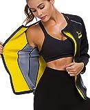 SEXYWG Donna Sauna Reducer per Dimagrire Velocemente Fitness Snellenti Canotta - Sauna da Esterno Sportiva Tute Sudare per Dimagrire Termica Camicie per in Esecuzione di Yoga