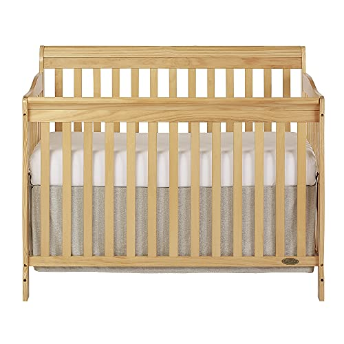 Dream On Me Ashton 5-in-1 Convertible Crib in Natural, Greenguard Gold Certified