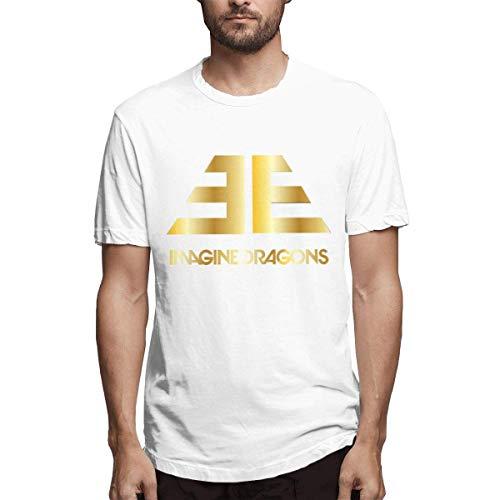 Camisetas clásicas de diseño Imagine Dragons para Hombre,5XL