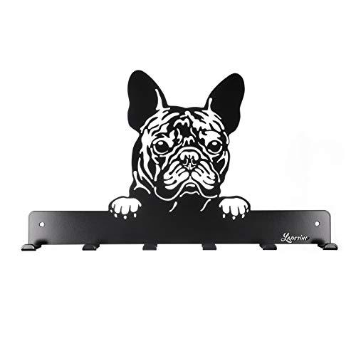 """Laperino Elegante e pratico appendiabiti a forma di cane """"Bulldog francese"""" XL 450 mm di larghezza - appendino per guinzagli"""
