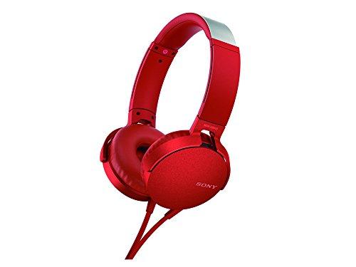 Fone de Ouvido OverEar, Sony, Vermelho, Médio