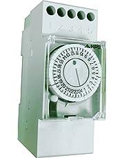 KPS-IH-DIN2SR30 Interruptor horario analógico 2 modulos DIN Programacion diaria maniobra 30 min