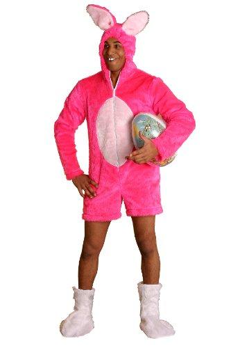 Hasenkostüm pink Gr. M Junggesellenabschied Bad Taste Paintball Mottoparty Kostüm