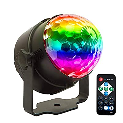 HB Whale Party Disco Lights, Disco Lights for Kids, with Remote Control for Kid's Birthday, Disco Ball Lights for Parties at Home Sound Activated Rotating Strobe Stage Lighting(UK)