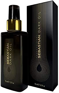 Sebastian Professional Dark Oil Hair Styling Oil Smooth Lightweight & Shine Styling oil, Sandalwood, Cedarwood and Argan Oil., 95 milliliters