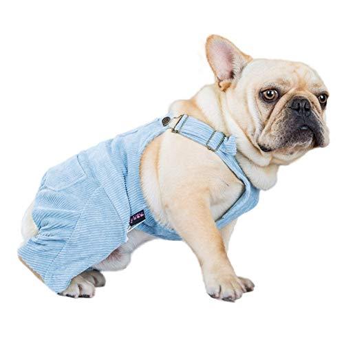 N/A Ropa para Perros Ropa de Bulldog francés Mono de Pana MonoRopa Poodle Schnauzer Corgi Disfraz de Perro Ropa Manténgase abrigado otoño Invierno Deportes Ocio Regalos de año