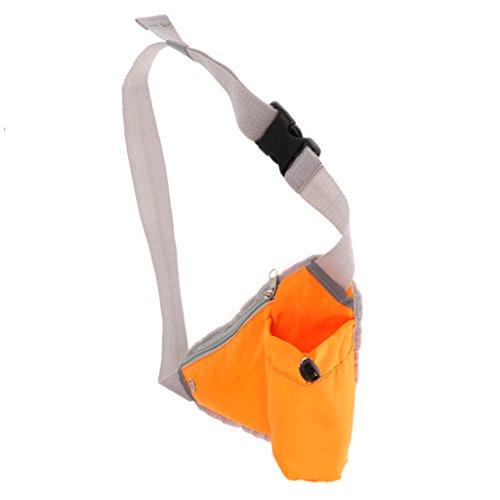 MagiDeal Sac Banane Sport Multifonction Triangle Sac De Bouteille D'eau Camping Voyage Randonnée - Orange, 17 x 28 x 0,5 cm