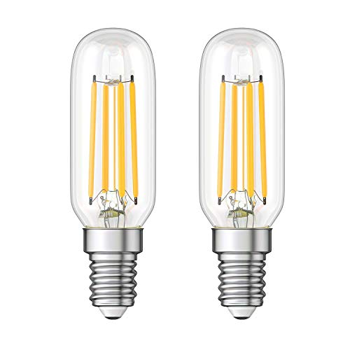 ledscom.de E14 LED Kühlschrank-Leuchtmittel klar T25 kaltweiß 6000K 4W = 40W 470lm, 2 Stk.