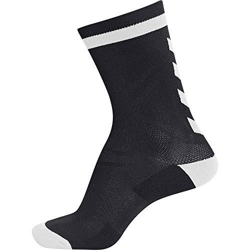 Hummel Elite Indoor Sock Low, Schwarz/Weiß, 39/42