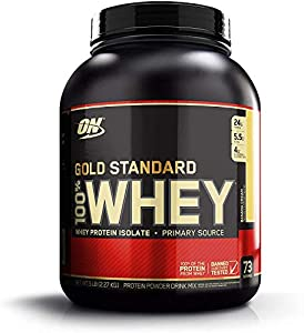 Optimum Nutrition ON Gold Standard Whey Protein Powder Muscle Building Supplements with Glutamine and Amino Acids, Banana Cream, 29 Servings, 900 g