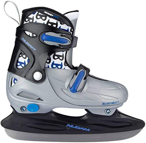Junior Hockey-Skates verstellbar grau / schwarz Größe 38-41