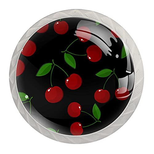 Pomelli a forma di ciliegia e frutti di ciliegia, in resina ABS, per armadietti, maniglie per cassetti e porte, pomelli per armadietti