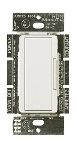 Lutron MALV-600-WH 600-Watt Maestro Magnetic Low-Voltage Single-Pole Dimmer, White -