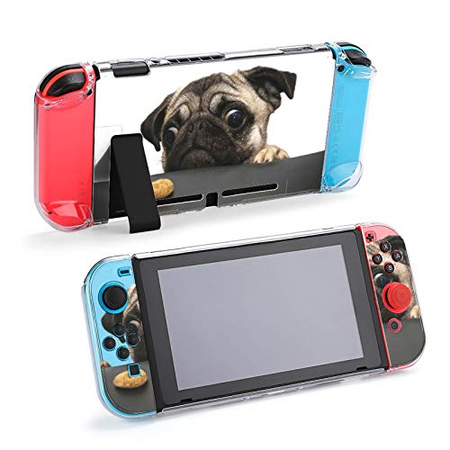 OMOXILOUY Cute Protective Case For Nintendo Switch Lite Cases For Boys Switch Case Cover For Nintendo Switch Lite Skin Accessories Light Anti-Scratch Design Protective Case For Girls The Pug