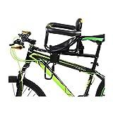 Cojinete asiento de niño para bicicleta montaje delantero rápido desmontaje asiento de seguridad para bicicleta con mango y valla para hombres y mujeres bicicletas