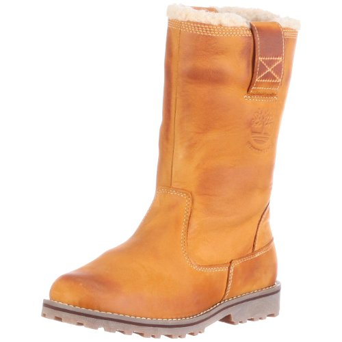 Timberland Unisex-Kinder Asphalt Trail_8 In Pull On WP Boot with Schlupfstiefel, Braun (Wheat Nubuck Burnish), 31 EU