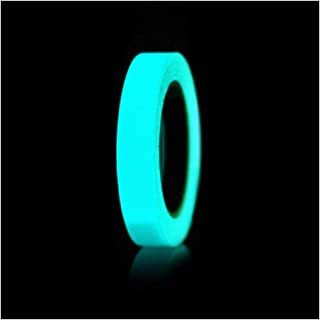 BOJI 1pcs Glow In The Dark Luminous Fluorescent Night Self-adhesive Safety Sticker Tape Hardware (Color : Blue and green)