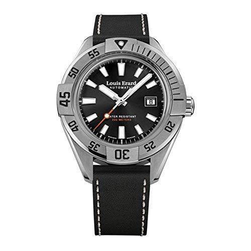 Louis Erard Sportive orologio automatico, 44 mm, nero, giorno, 20 atm,...