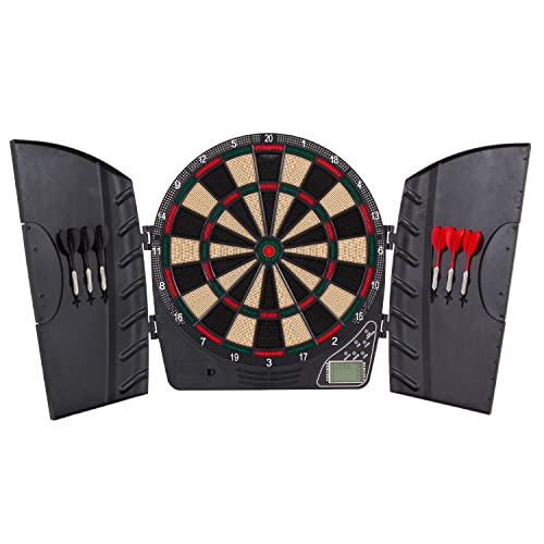 Bullshooter Reactor Electronic Dartboard and Cabinet with LCD display, Cricket Scoring Displays,...