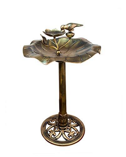 Vogeltränke mit Futterschale Bronze 85 x 50 cm Kunststoff wetterfest