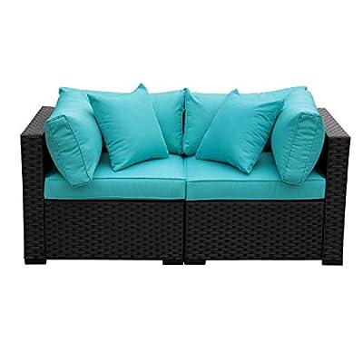 Outdoor PE Wicker Rattan Sofa-Patio Garden Conversation Cushioned Seat Furniture Set