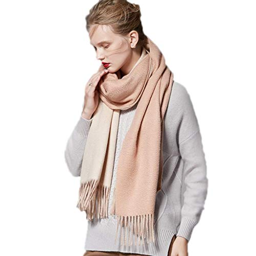 WCZ Winter Schals für Frauen Wraps verdicken Schal Damen Verpackungs-Schal Damen Schal Damen Schal Frühling und Winter Kaschmir-Schal Double Sided Schal Mode-wildes Schal neues Jahr-Geschenk-Schals,C
