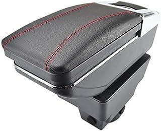 Drehbare Armlehne für Astra J 2009 Gegenwartschwarz Gewinde Aufbewahrungsbox Armlehne   Schwarz mit rotem Faden