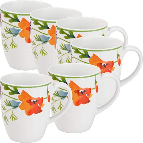 Gepolana Kaffeebecher 6er-Pack Porzellan Bunt