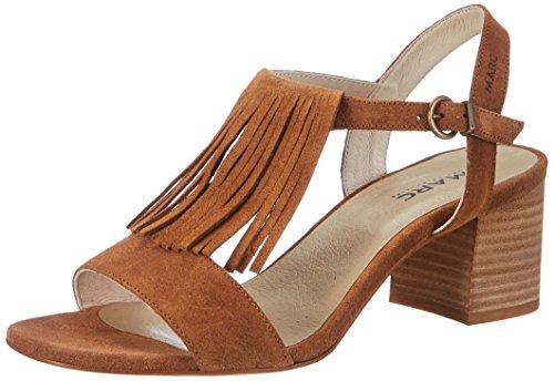 Marc Shoes Damen Celine Slingback Sandalen, Braun Braun, 38 EU