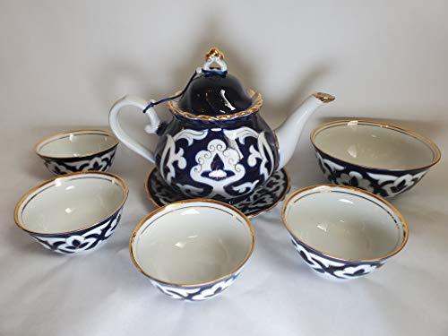 Blue & White Handmade Uzbek Tea Set