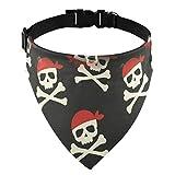 Moyyo Skulls Pirate Dog Bandana Collar Adjustable Pet Triangle Scarf Dog NeckerchiefWashable...