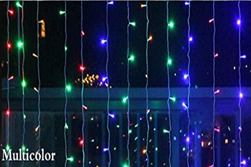 GFSDDS Weihnachtsbeleuchtung Led Vorhang Lichterkette Weihnachtslichterkette Outdoor Home Decor, Multicolor, Russische Föderation, 220V