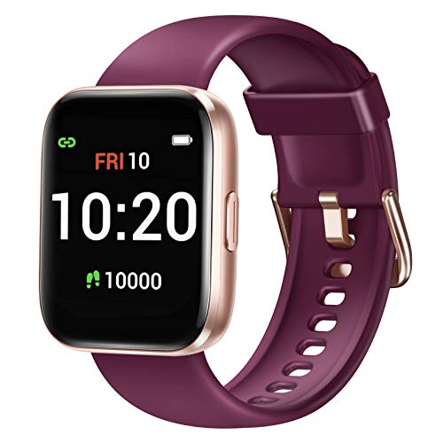 Letsfit Smart Watch for Android Phones Compatible with iPhone Samsung Fitness Tracker with Blood Oxygen Saturation amp Heart Rate Monitor IP68 Waterproof Cardio Watch for Women Men Purple
