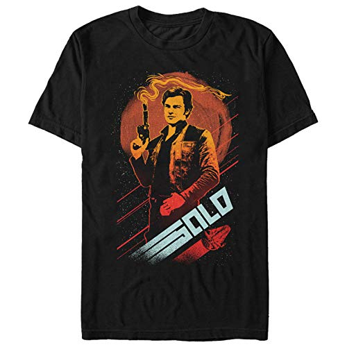 Fifth Sun Solo: A Star Wars Story Men's Smoking Blaster Black T-Shirt