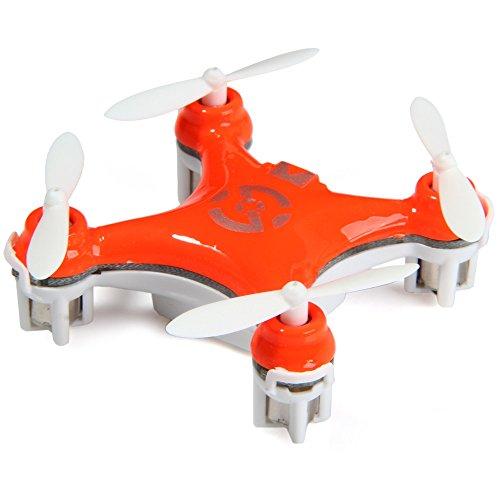 Cheerson CX-10 Mini 29mm 4CH 2.4GHz 6-Axis Gyro LED RC Quadcopter Bright Orange