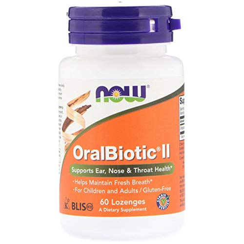 Oral Biotic II Probiotic by Now Foods - 60 Lozenges - for Children & Adults