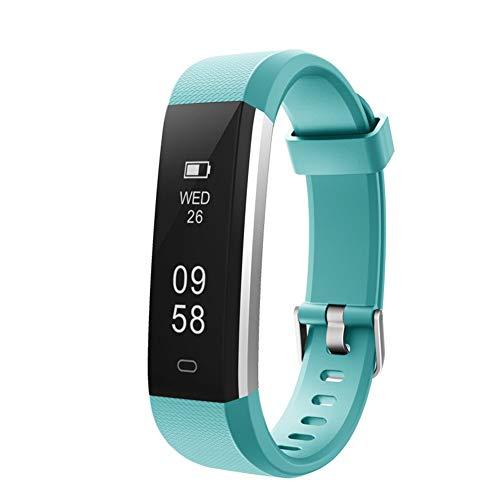 MISSJJ Reloj Inteligente para Mujer Hombre Niños, Pulsera Actividad Impermeable IP67, Podómetro, Control Remoto de Cámara, Recordatorio Sedentario (Green)