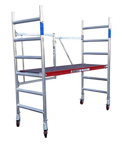 Alumexx inklapbare steiger (Red-Line) - kamersteiger - werktuig - bouwsteiger - aluminium steiger - rolsteiger