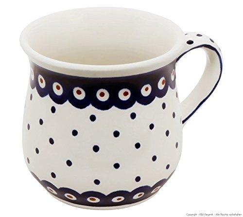 Original Bunzlauer Keramik Kaffeebecher V=0,25 Liter im Dekor 28