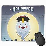 マウスパッド 幽霊 ハロウイン ちいちゃい グレー ゲーミング オフィス最適 おしゃれ 疲労低減 滑り止めゴム底 耐久性が良い 防水 かわいい PC MacBook pro/DELL/HP/SAMSUNGなどに 光学式対応 高級感プレゼント YAMAYAGO