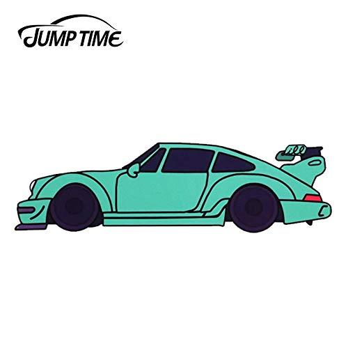 JYIP 13 cm x 3 7 cm para Rauh Welt Porsche vinilo verde calcomanía coche parachoques pegatinas impermeable ventana Accesorios