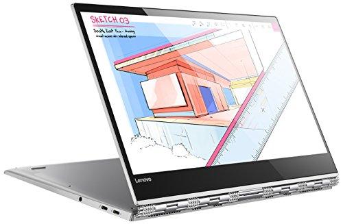 Lenovo Yoga 920 Glass 35,3 cm (13,9 Zoll Ultra HD IPS Multi-Touch) Convertible Laptop (Intel Core i5-8250U, 8GB RAM, 256GB SSD, Intel UHD Grafik 620, Windows 10 Home) silber